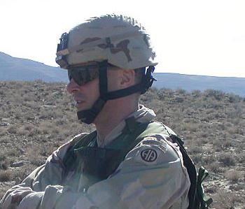 Modern MICH helmet worn by U.S. servicemen.