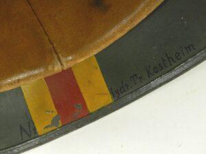 M35 helmet's skirt with hand rendered Baden colors.