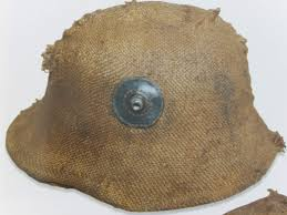 German M16 helmet with Hessian cloth cover