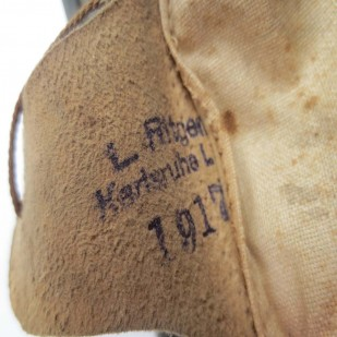 M17 liner pads are often maker marked and dated on the back of the pad finger