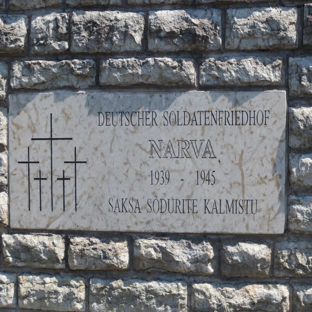 Entrance to the German cemetery at Narva