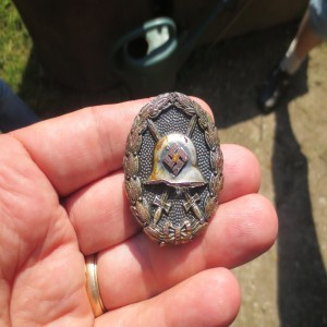 Recently unearthed Condor Legion metal