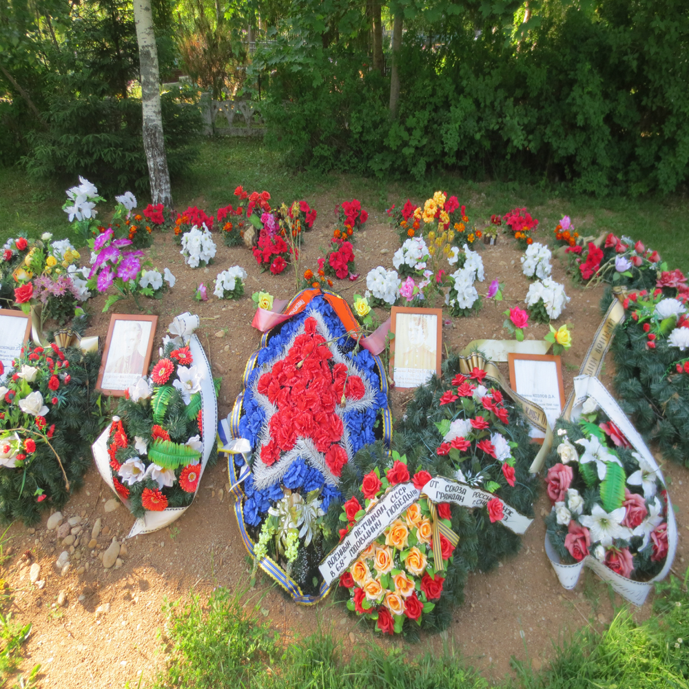 This is a recent grave for Red army soliders. Even after all these years they remains are still being found