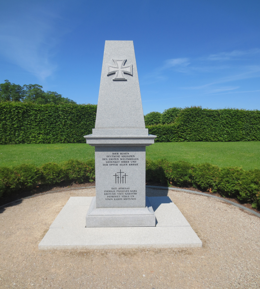 A monumnet to the men who died while at the palace in WWI