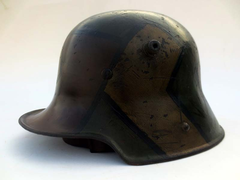 German M16 Square Dip Helmet W Fall Of 1918 Camo
