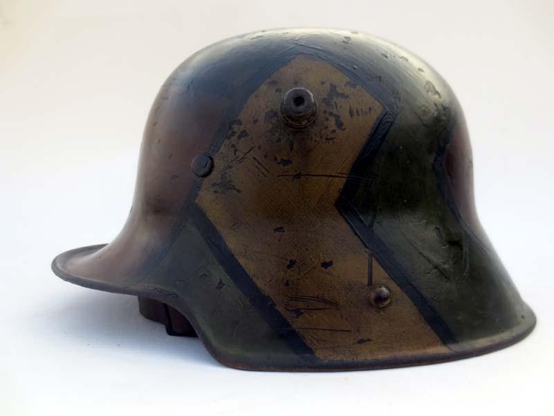 German M16 square-dip helmet w/fall of 1918 camo