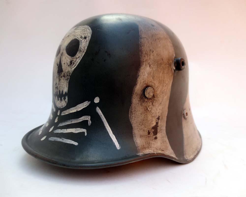 M17 Austrian helmet as worn by Finnish units in the winter war