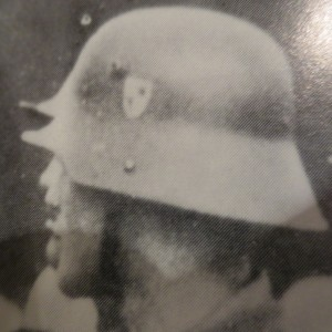 The Hohenzollern crest is clearly visible  on this M16 helmet
