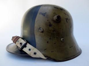 M17 Austro-Hungarian helmet with fall camo