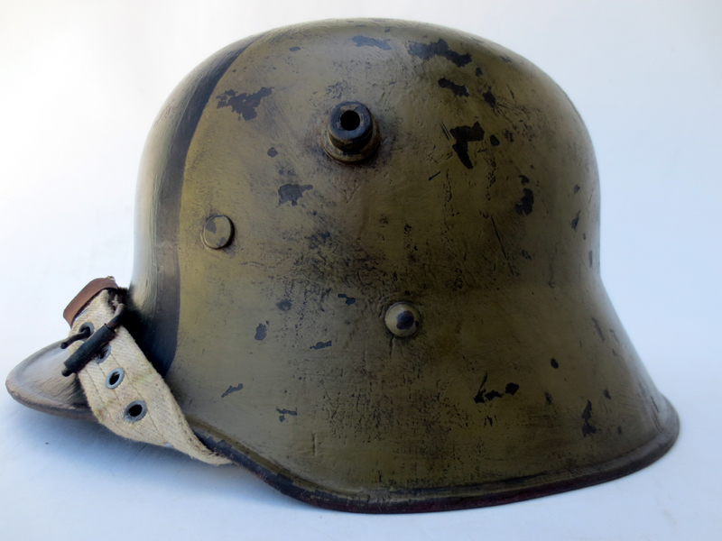 M17 Austro-Hungarian helmet with fall camo