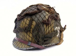 M2 Helmet w/net and scrim 502nd PIR