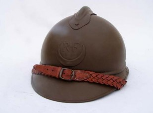 M15 French Adrian helmet with Zouave/Tirailleur insignia