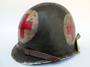U.S. M1 Medic's helmet with transitional liner