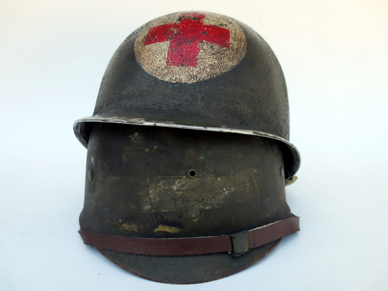 U.S. M1 Medic's helmet with transitional liner