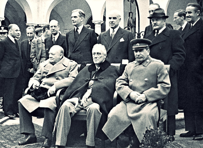 The big thee at Yalta. It was here that it was agreed that all former Soviet citizens would be repatriated