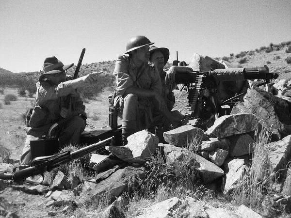 Australian troops in North Africa circa 1942. Photo produced by A&S