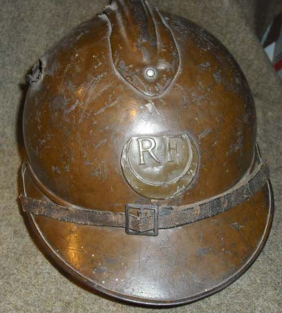 Adrian helmet with Zouave insignia