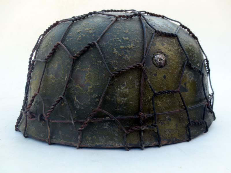 M38 FJ helmet w/Monte Cassino Camo