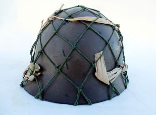 "Japanese Type 90 Army Helmet, Large ""Burma front"""