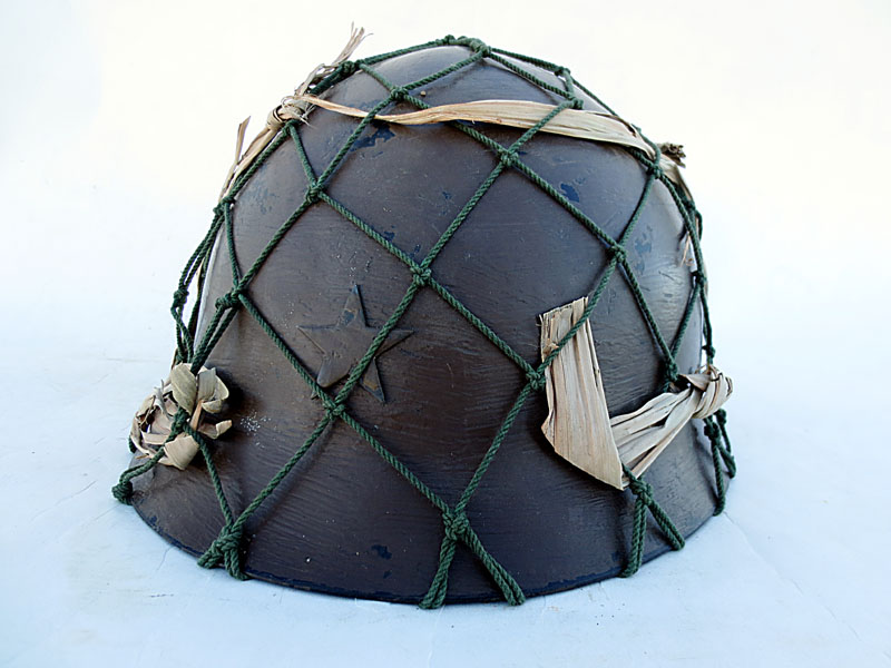 "Japanese Type 90 Army Helmet, Large ""Burma front"""