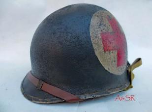 U.S. M2 82nd Airborne, 508th PIR 2-Panel Medic's helmet w/Inland
