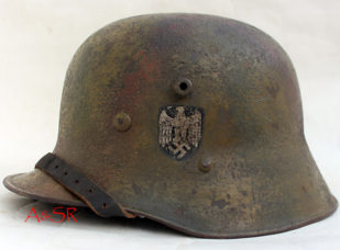 M17 Austrian transitional helmet w/Normandy Camo