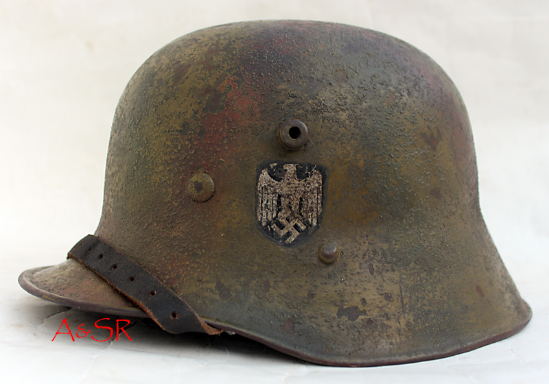 M17 Austrian transitional helmet w/Normandy Camo