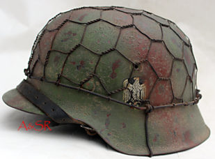 German M42 Heer w/ Normandy Hedgerow camo and half chicken wire basket