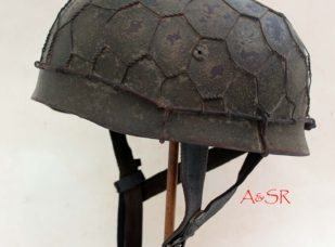 M38 FJ helmet w/Italian Front Camo