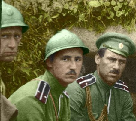 294bb3e73c5 Russian officers with French Adrian helmets