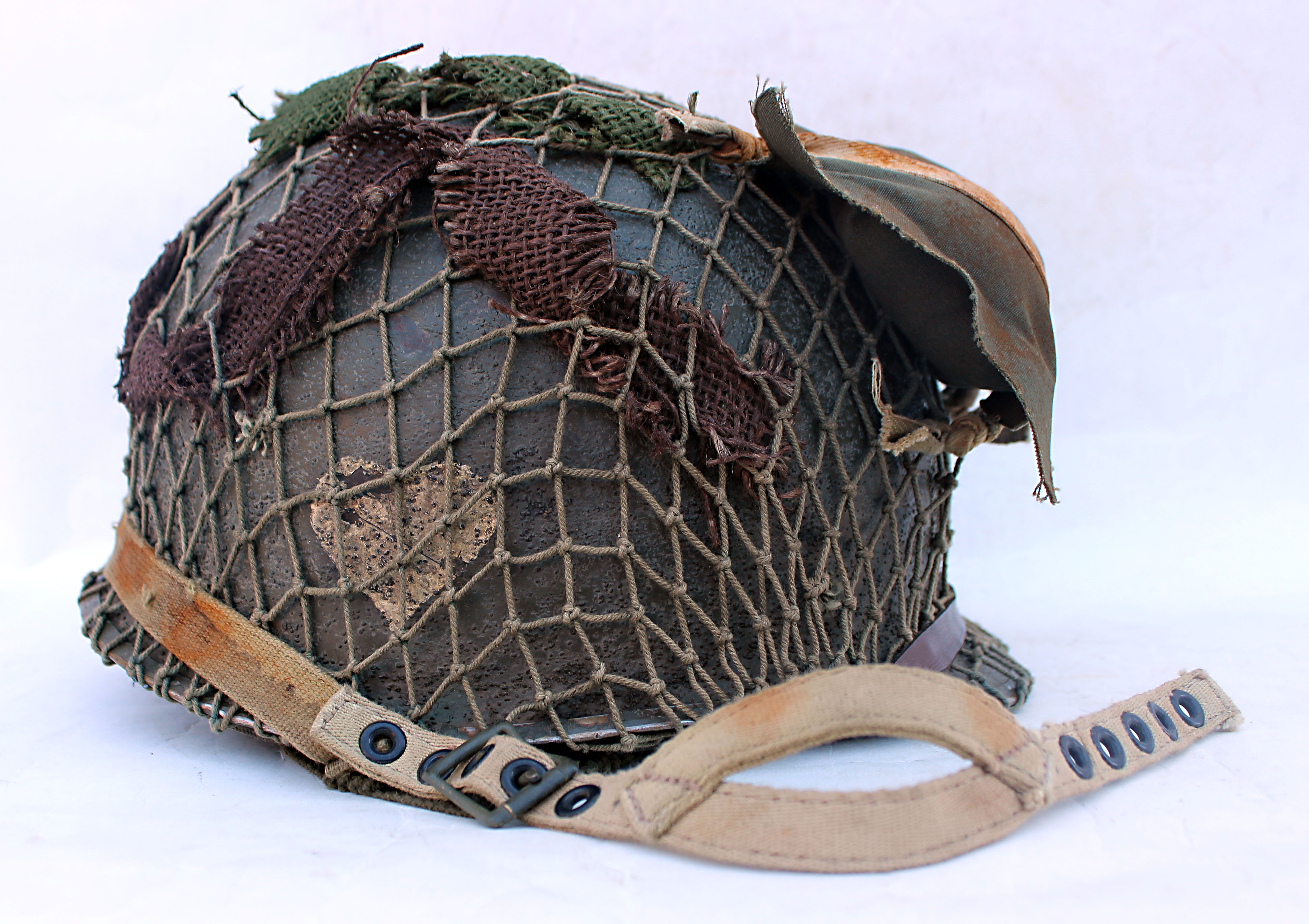 US M1 Fixed bale helmet 502nd PIR, Market Garden/Bulge