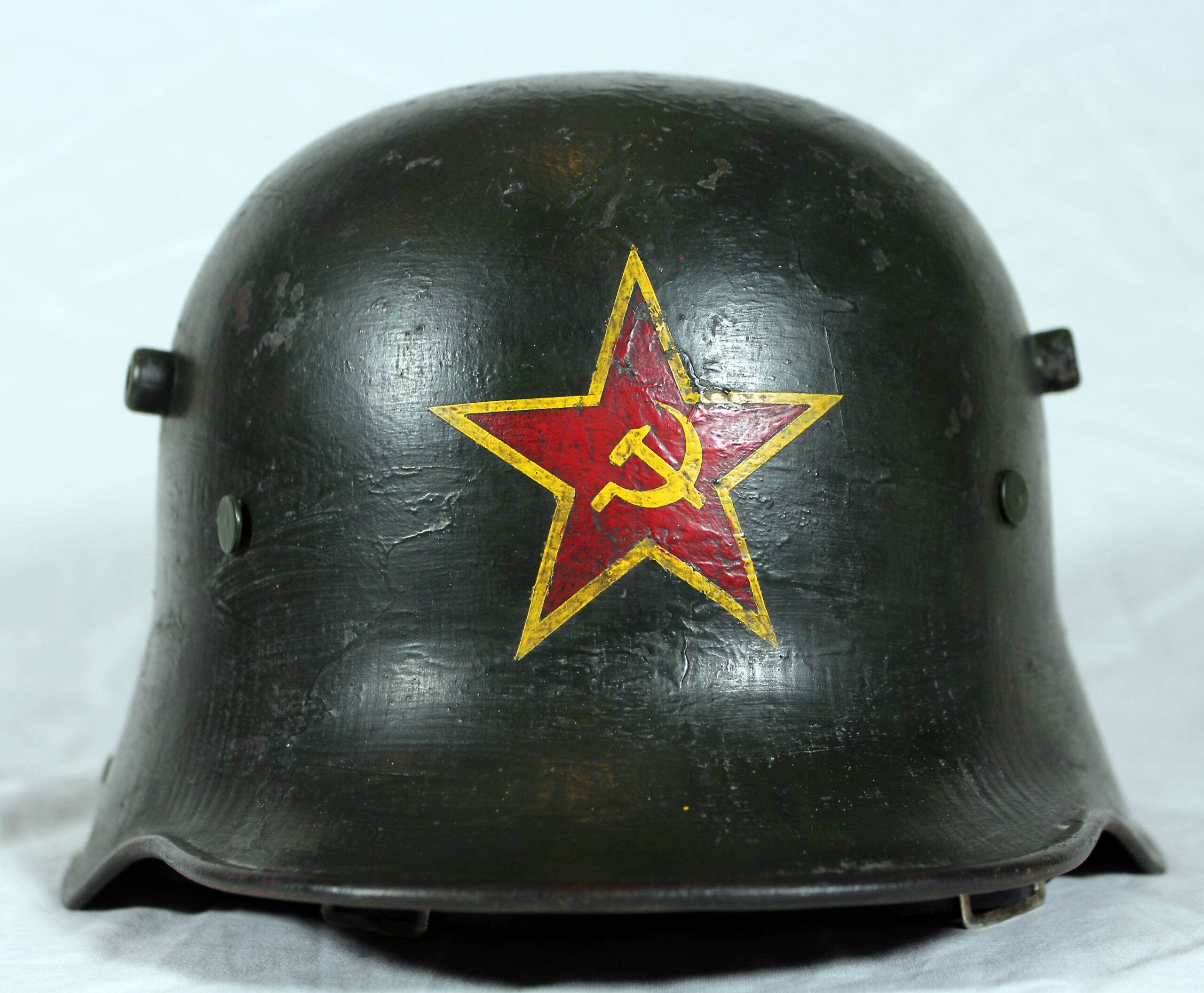 Imperial German M16 helmet, Soviet Red Army use 1920s