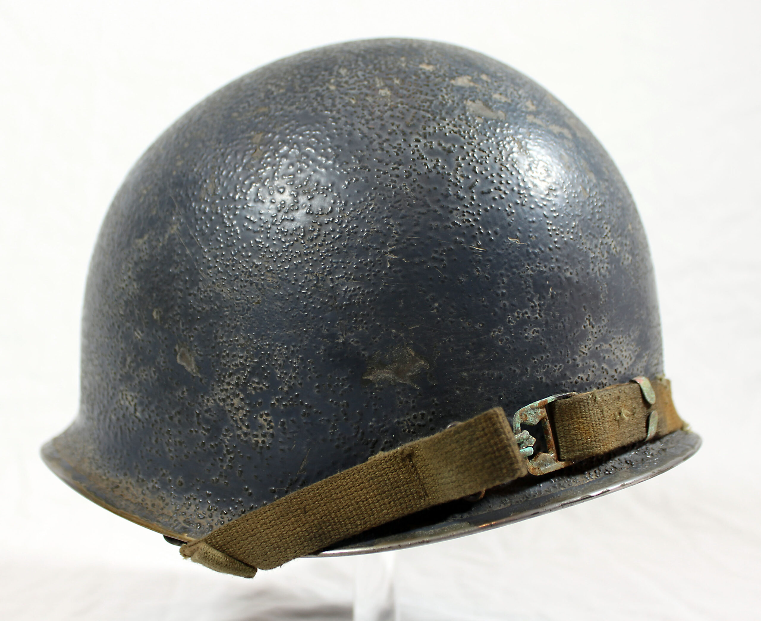 A Navy chaplain's shipboard helmet circa 1942-45